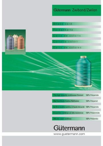 Цветовая карта ниток Guetermann Zwibond, Zwilon